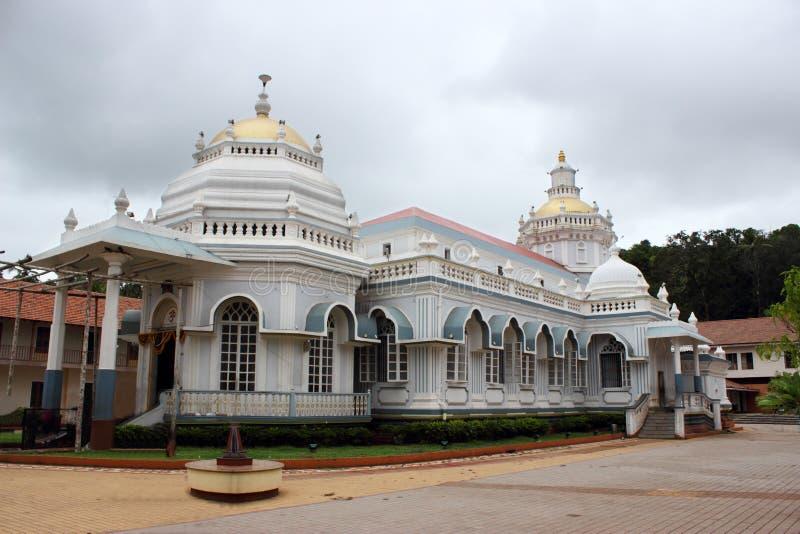 Temple de Mangeshi Shiva, Goa, Inde images libres de droits