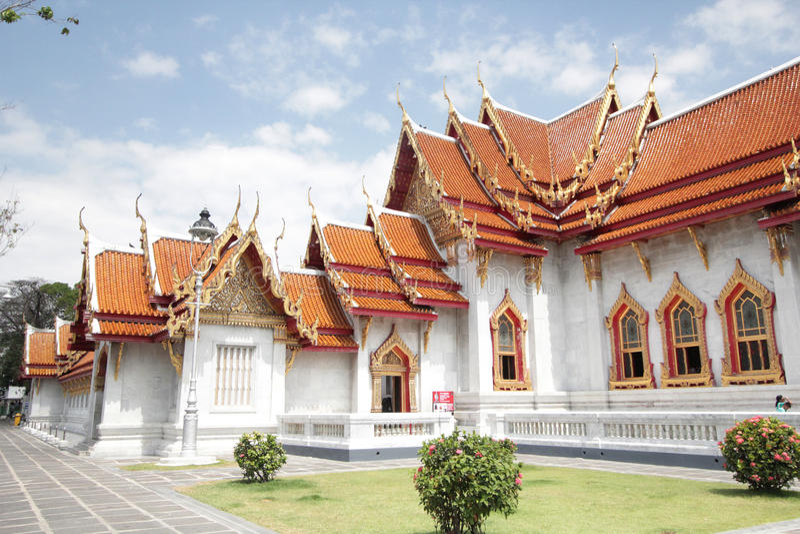 Temple de marbre à Bangkok, Thaïlande photo stock