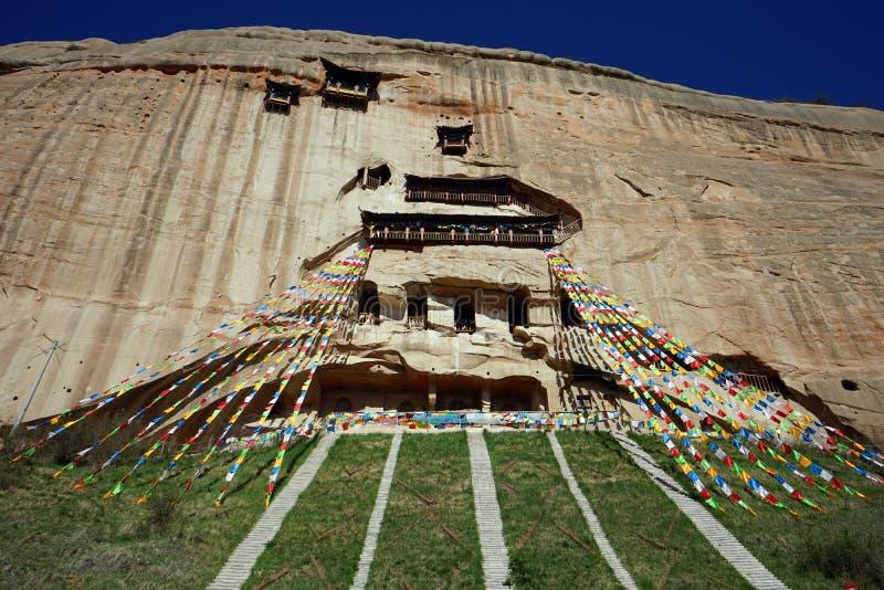 Temple de Mati Si dans les cavernes de roche photographie stock