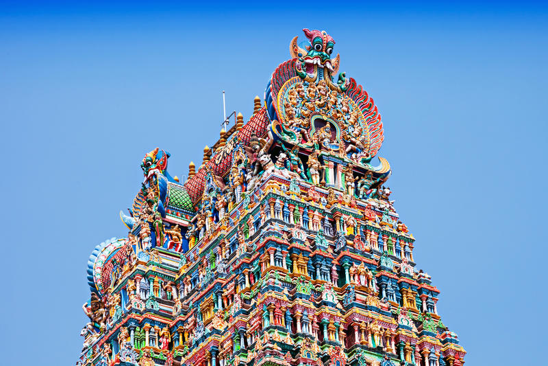 Temple de Meenakshi photos stock