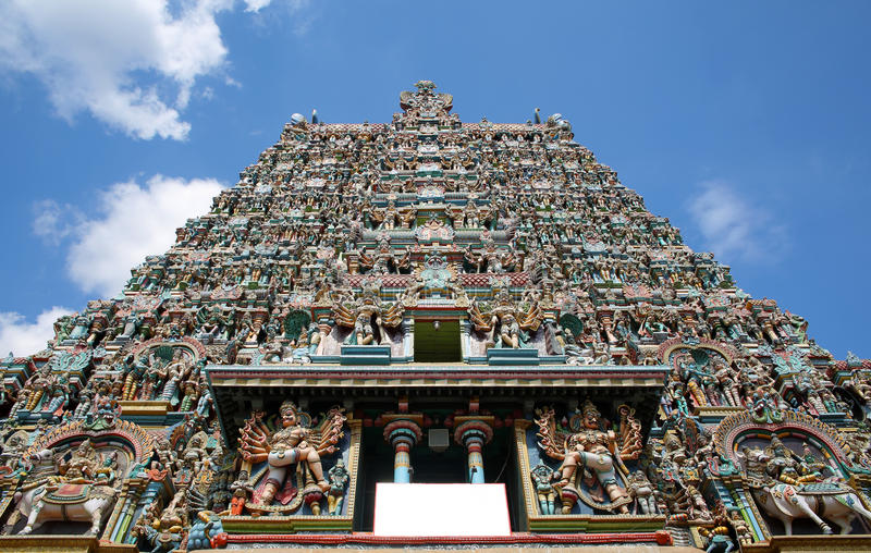 temple de meenakshi de sri, Madurai, Inde image libre de droits