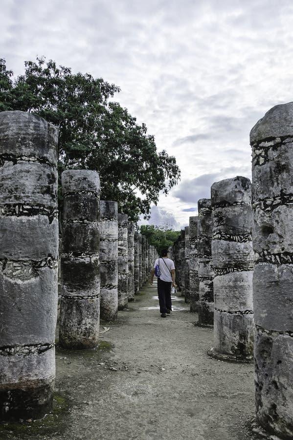 Temple de mille guerriers photographie stock libre de droits