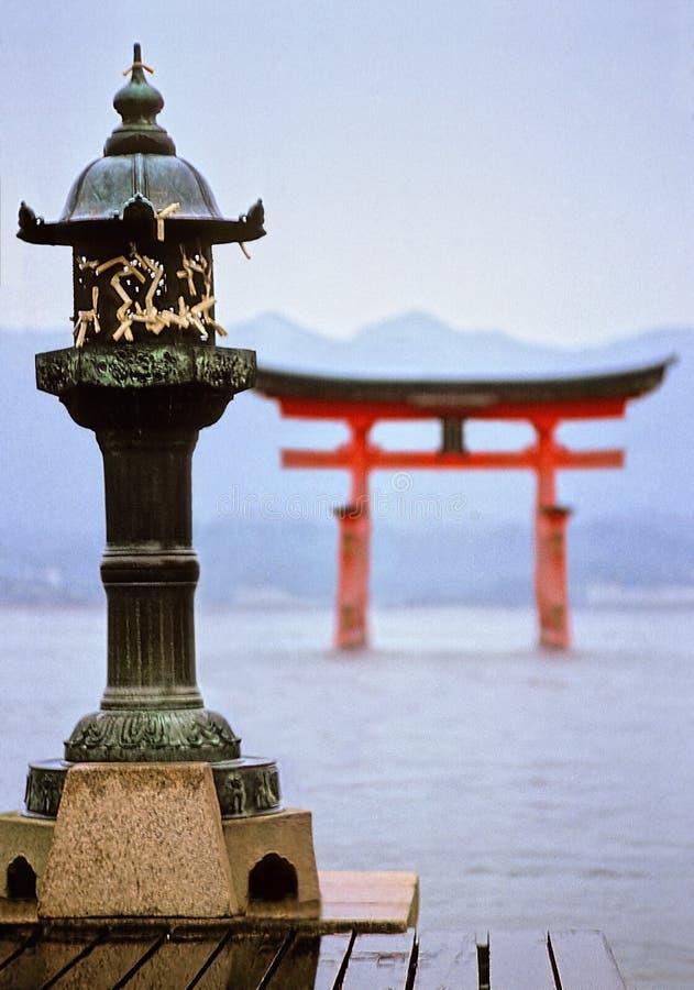 temple de miyajima images stock