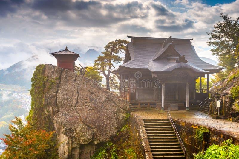 Temple de montagne de Yamadera image libre de droits