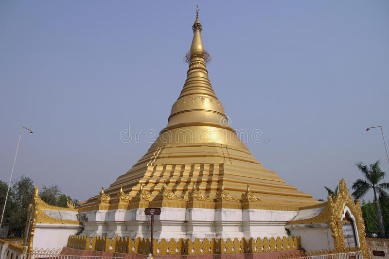 Temple de Myanmar dans Lumbini photo libre de droits