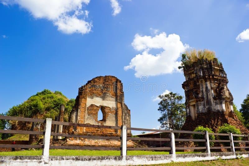 Temple de Nakhon Kosa dans Lop Buri photo stock