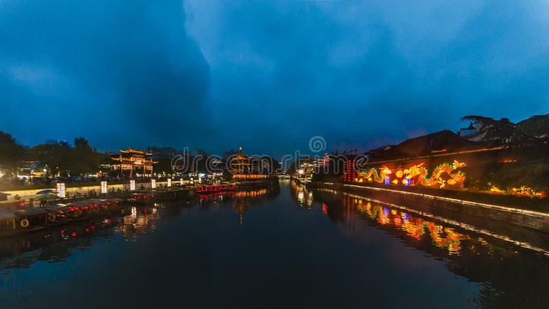 Temple de Nanjing City Confucius images stock