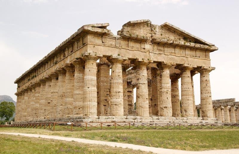 Temple de Neptune, Paestum, Italie photo libre de droits