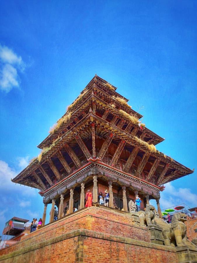 Temple de Nyatapola dans la place de Bhaktapur Durbar photo libre de droits