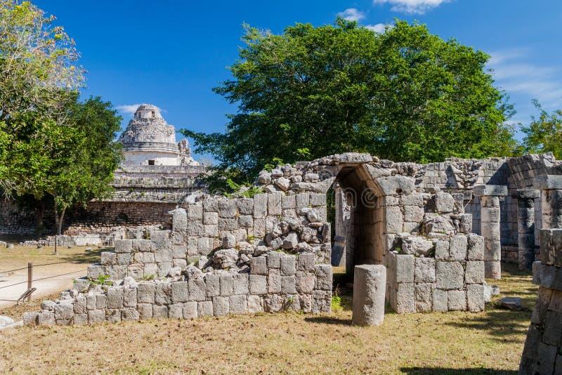 Temple de Panels Templo de los Retablos sculpté dans la ville maya antique Chichen Itza, Mexi image libre de droits