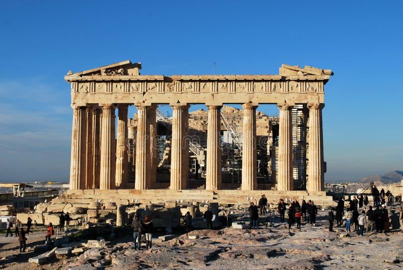 Temple de parthenon un jour lumineux Acropole, Athènes, Grèce photo libre de droits