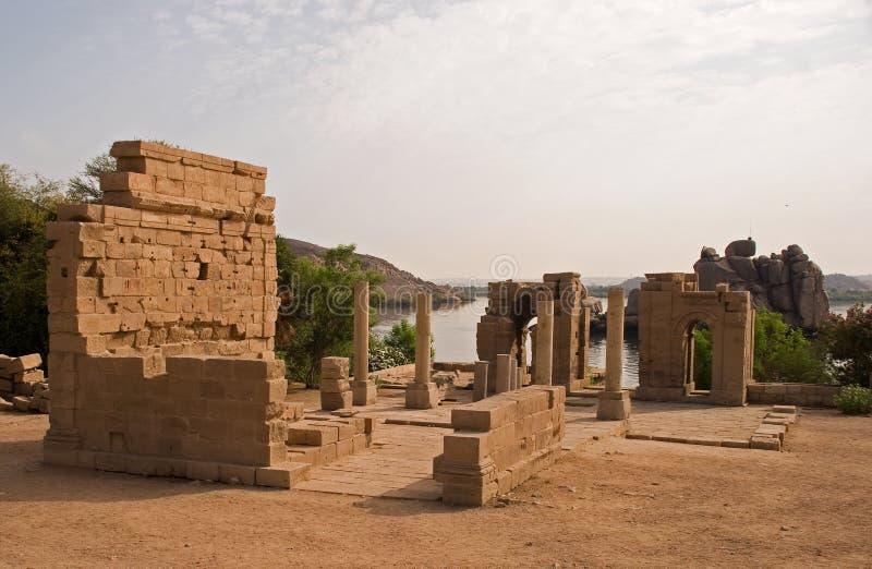 temple de philae d'aswan image stock