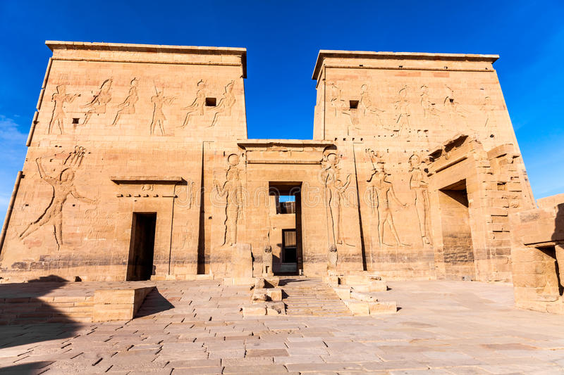 Temple de Philae d'ISIS photo stock