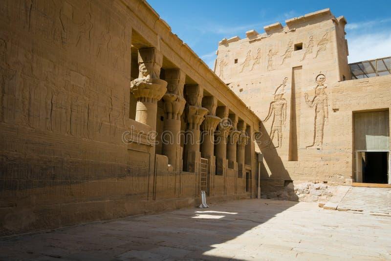 Temple de Philae, temple d'ISIS nile photos libres de droits