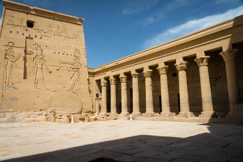 Temple de Philae, temple d'ISIS nile photographie stock libre de droits