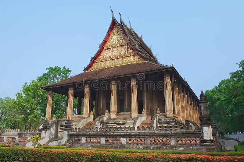 Temple de Phra Kaew de baie d'aubépine à Vientiane, Laos images libres de droits