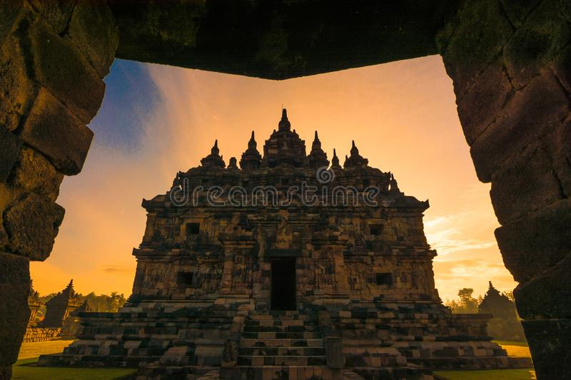 temple de Plosan, klaten, centre de java, Indonésie photo stock