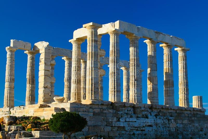 Temple de Poseidon images libres de droits
