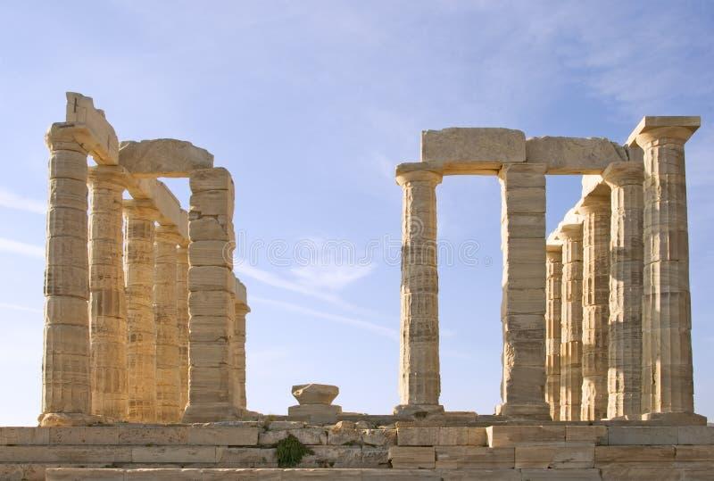 Temple de Poseidon image stock