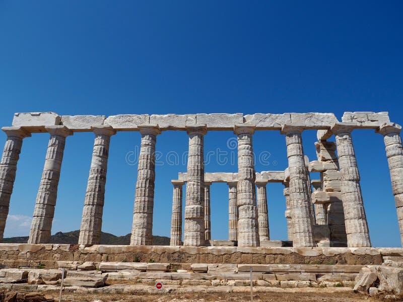 Temple de Poseidon au cap Sounion photographie stock