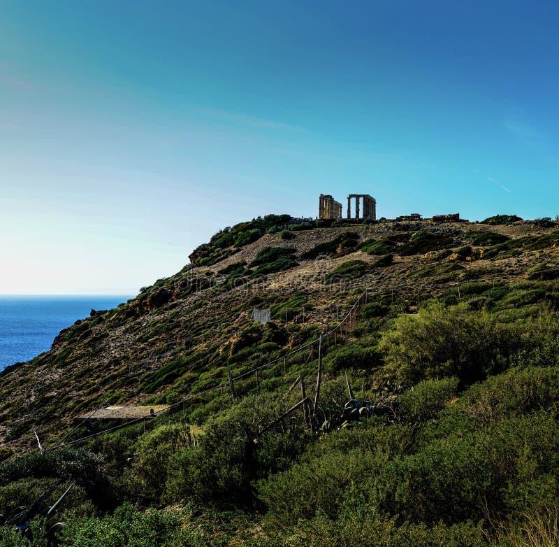 Temple de Poseidon, Grèce photos stock