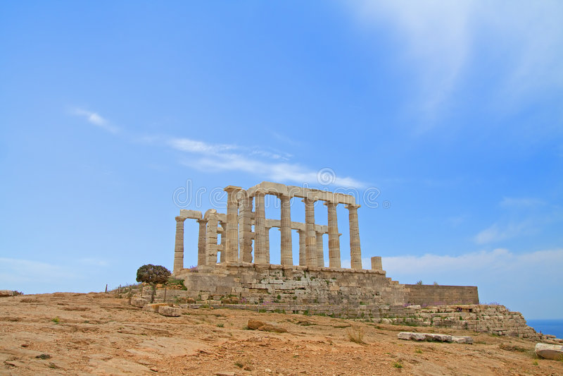 Temple de Poseidon, Grèce photographie stock