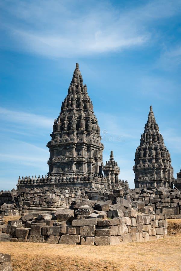 Temple de Prambanan, Java, Indonésie photo stock
