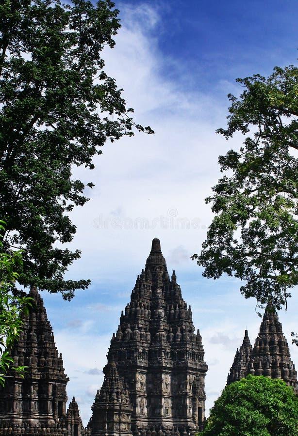 Temple de Prambanan, un endroit historique pour Hindus en Indonésie photos libres de droits