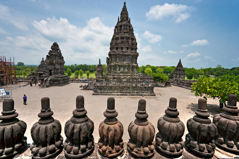 Temple de Prambanan, Yogyakarta, Indonésie. images libres de droits