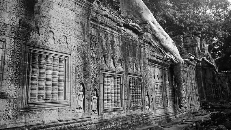 Temple de Preah Khan photo libre de droits