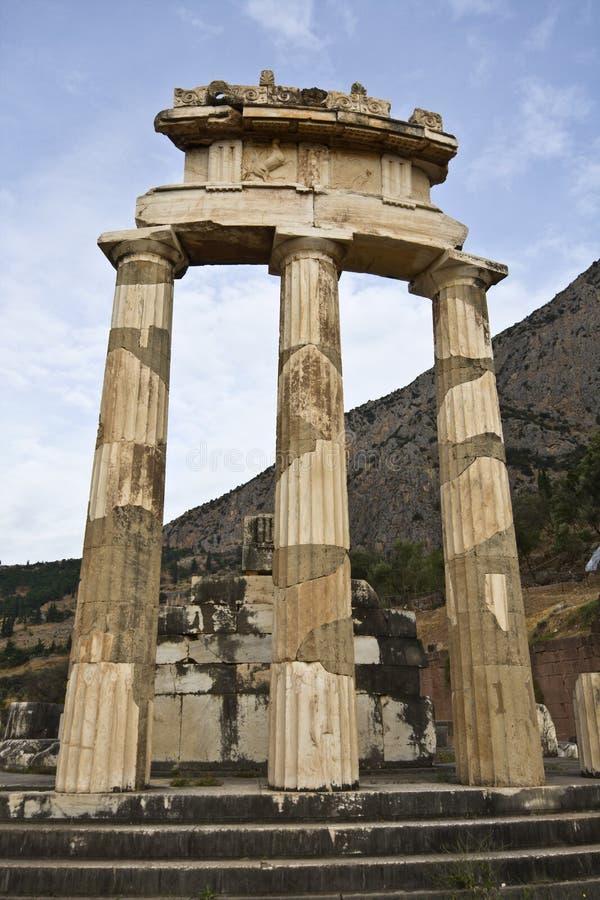 Temple de pronoia d'Athéna à Delphes photographie stock