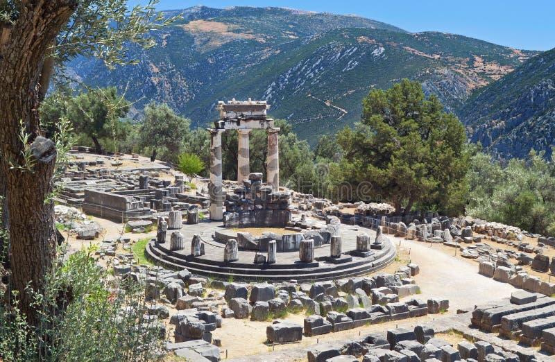 Temple de pronoia d'Athéna à Delphes photos stock