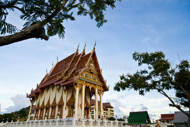 Temple de réseau local Thom de Wat Khao images libres de droits