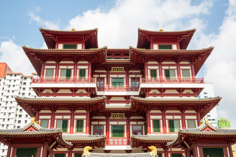 Temple de relique de dent de Singapour Bouddha photo libre de droits