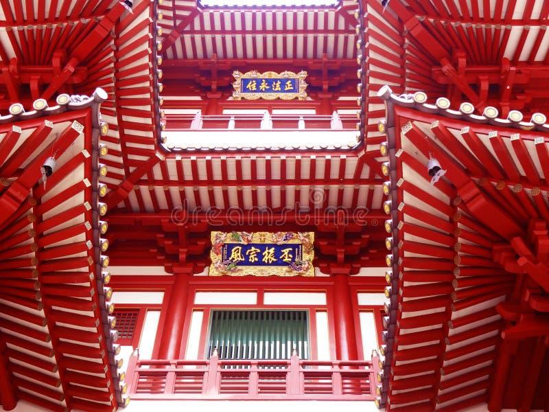 temple de relique de dent de Singapour Chinatown Bouddha images libres de droits