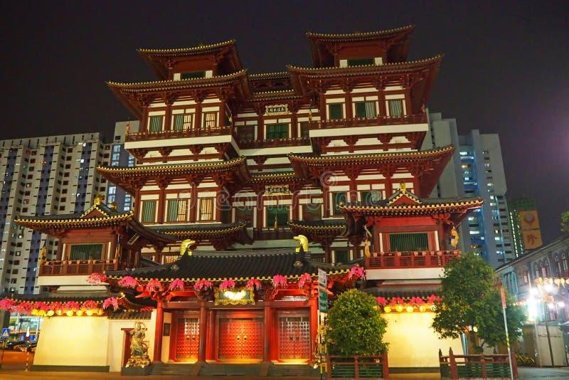 Temple de relique de dent de Bouddha, Singapour, mai 2018 photos libres de droits