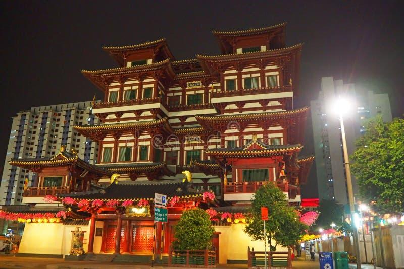 Temple de relique de dent de Bouddha, Singapour, mai 2018 image libre de droits