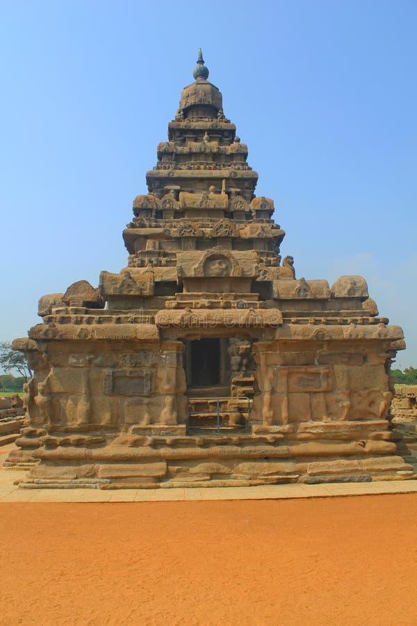 Temple de rivage dans Mahabalipuram, Inde images libres de droits