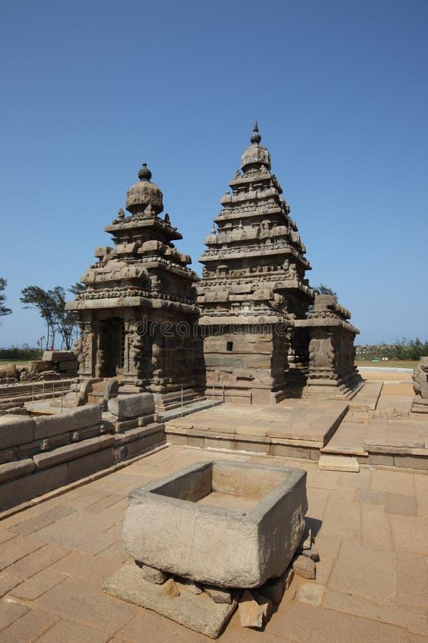 Temple de roche dans le mahabalipuram photo stock