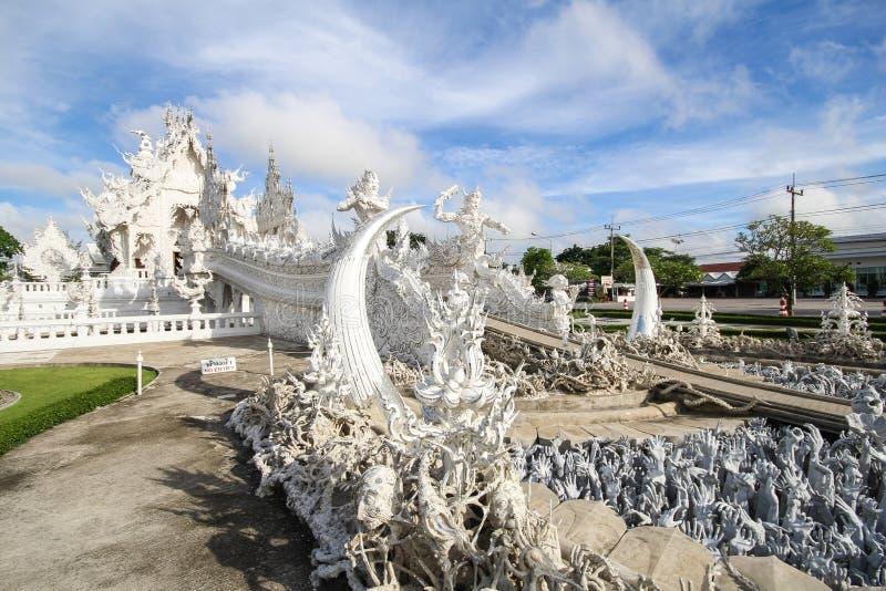 Temple de Rong Khun, Wat Rong Khun, temple blanc, Chiangrai Thaïlande photographie stock libre de droits