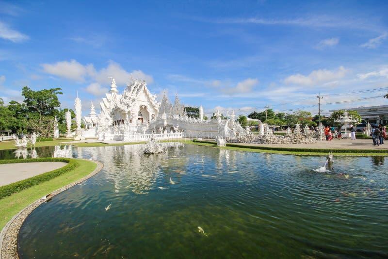 Temple de Rong Khun, Wat Rong Khun, temple blanc, Chiangrai Thaïlande photo stock