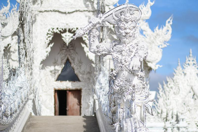 Temple de Rong Khun, Wat Rong Khun, temple blanc, Chiangrai Thaïlande photographie stock