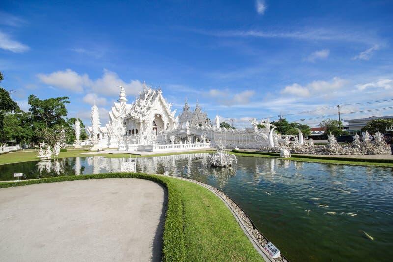 Temple de Rong Khun, Wat Rong Khun, temple blanc, Chiangrai Thaïlande image libre de droits