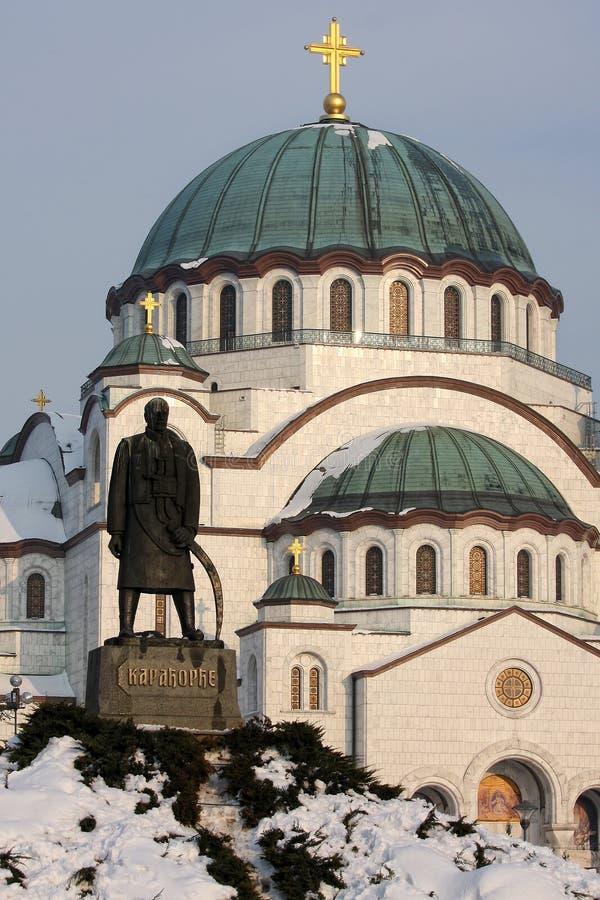 Temple de rue Sava à Belgrade photo stock