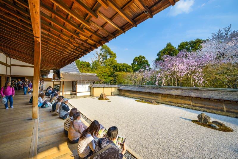 Temple de Ryoanji de Kyoto, Japon photos libres de droits