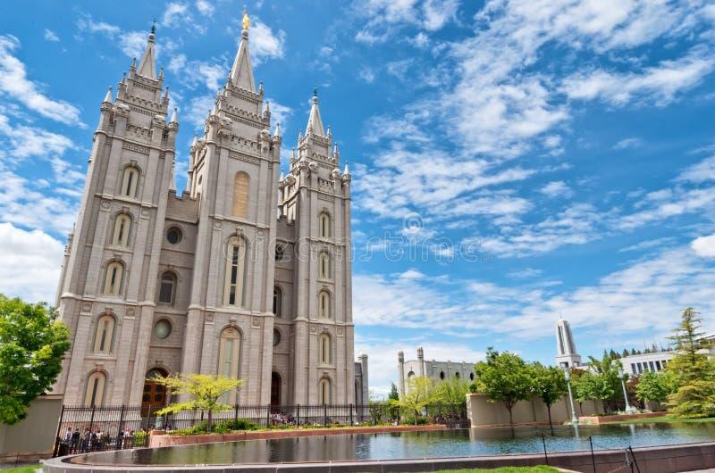 Temple de Salt Lake à Salt Lake City, Utah, Etats-Unis photo stock