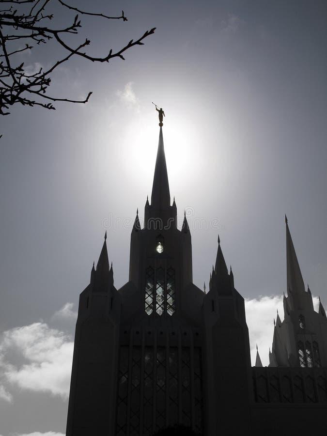 Temple de San Diego avec l'ange Moroni image stock