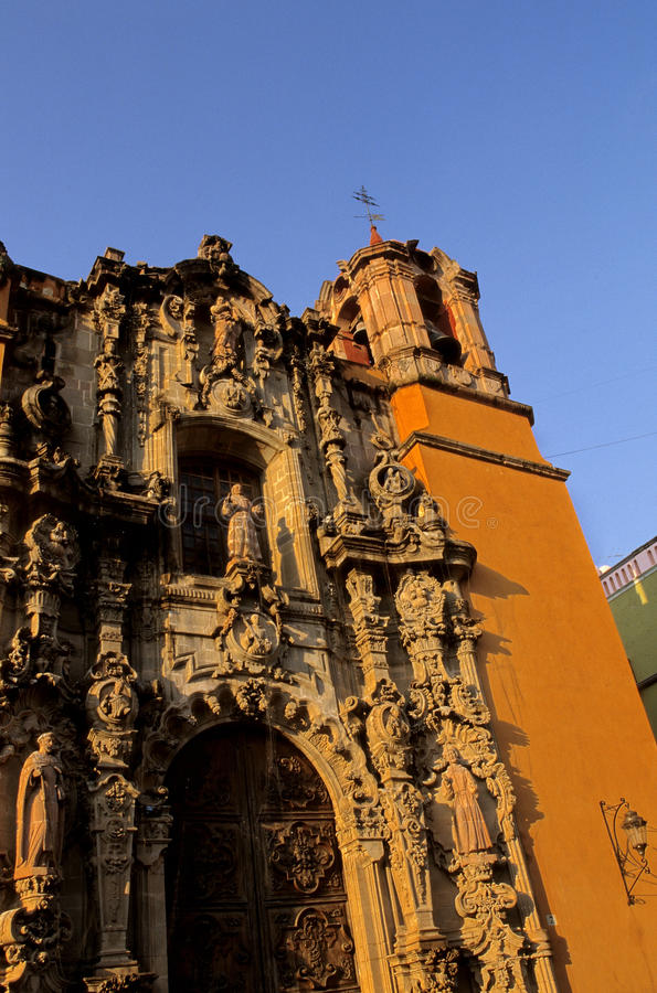 Temple de San Diego- Guanajuato, Mexico royalty free stock image