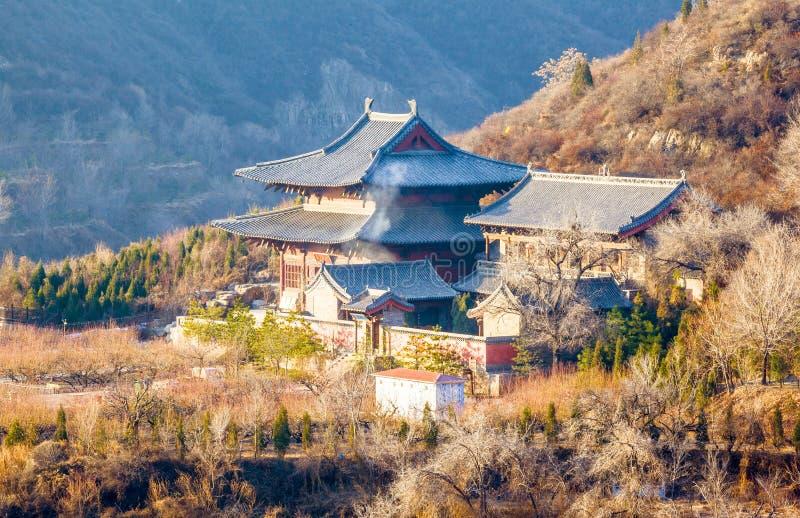 Temple de scène-Kaihuo de Taï-Yuan photo stock
