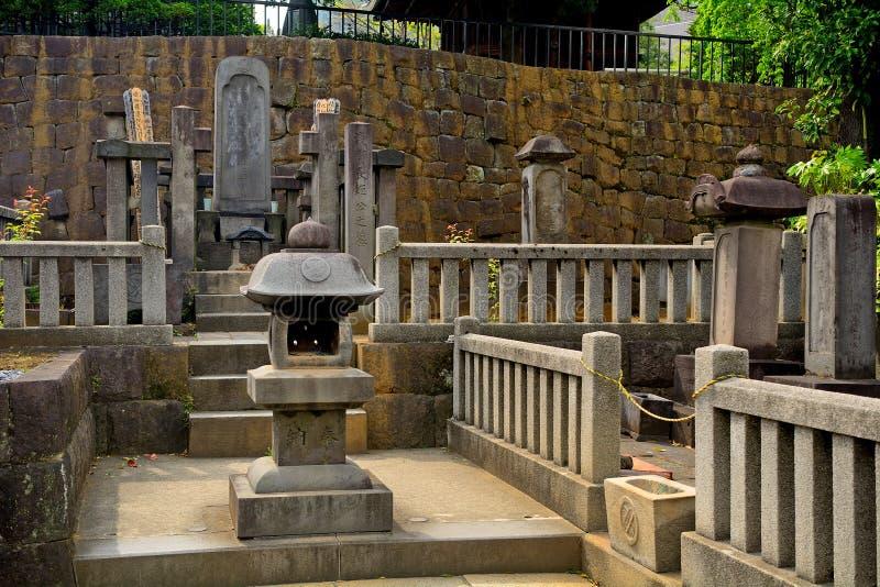 Temple de Sengaku, Tokyo, Japon image stock